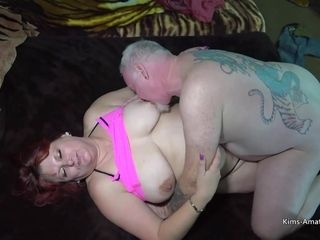 Shaging A Big Big-Titted Woman - shaved pussy