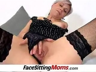 Lady Beate wears fishnet stockings and enjoys facesitting