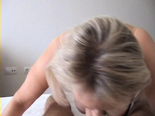 Hot blonde mature gives a great pov blowjob