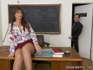 Cougar Teacher Syren DeMer Takes 3 BBCs - Cuckold Sessions