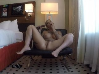 Kleio Valentien Masturbates with big dildo till she cums hard