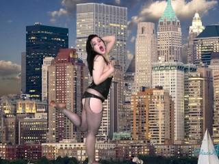 Growth Goof Goes Gigantic- MILF Transforms into Embarrassed Angry Giantess