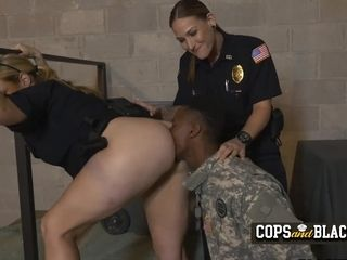 Impostor soldier is caught for stolen valor by horny milf cops
