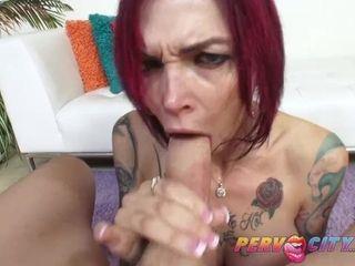 PervCity Deepthroating MILF Anna Bell Peaks