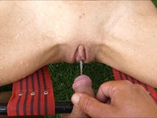 Cock vs Pussy battle outdoor pissing pee pov part 1 sexy tight pussy girl