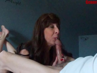 Milf Blowjob Big Cumshot Swallows Kept Sucking