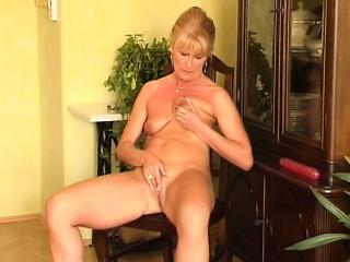 Striptease movie with masturbation