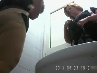 Italian granny and her daughter piss in spycam video