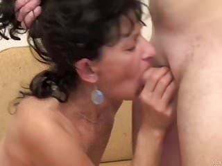 HOT! Russian Mature vs. Young Cock Video 01