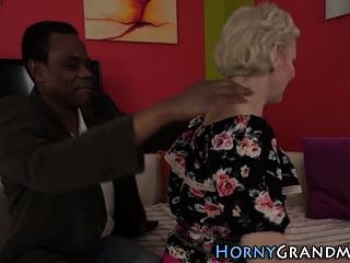 Hot grandmother slammed