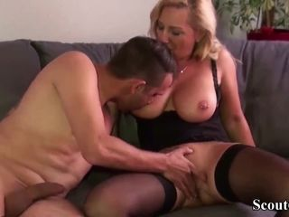 German Big Tit MILF Fuck with the Friend of her Daughter