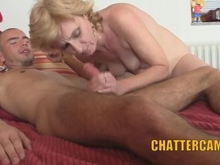Blonde Mature Mother in Law Gets Caught Fucking Son in Law