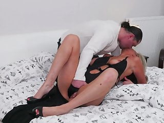 Sexy mother fucked and cum covered by daddy