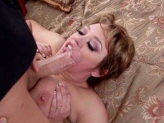 Young servant fucks mouth and pussy of super juggy whore wife Eliza Jane
