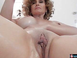 Iranian mommy masturbating on her sofa
