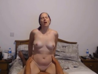 Mom rides son cock hard and fast