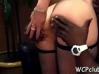 Bitch feels how man enters her holes by his palpitating dick