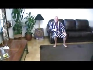 Bald Milf with cum in mouth