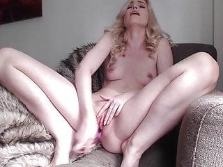 Pierced Nipples Naked Blonde Amazing Dildo-Fucking