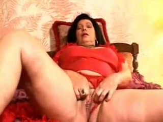 Depraved Granny making her own orgasms at home