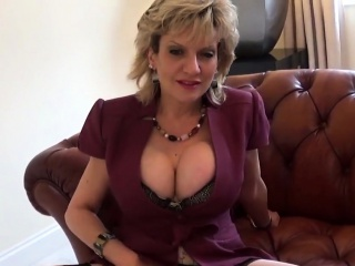 Cheating english mature lady sonia presents her monster boob