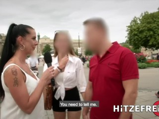 HITZEFREI Busty German MILF Jacky Lawless Ass Fucked Outdoors