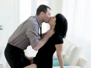Olive Glass takes a big fat dick in the couch