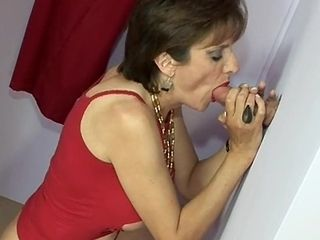 Lady Sonia Gloryhole Blowjob