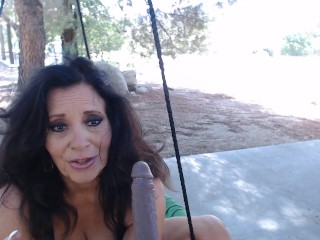 MOMS MORNING pussy stretches and cumming outside w/ smoking & footplay