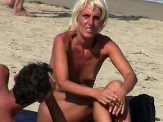 Voyeur Amateurs Nude Beach Couples Mix-Up Video