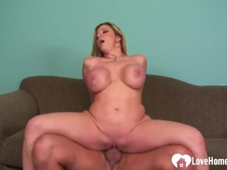 Blonde loves to suck on a big cock