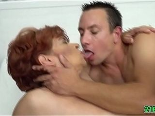 Cock hungry grandma gets to satisfy her lust