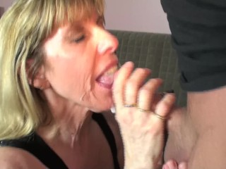 Mature Carol Cox Sucks and Swallows A Pornhub Subscriber