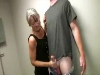 This mature slut is still a slut for hard cock in her hands