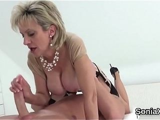 Cheating british mature lady sonia showcases her huge naturals