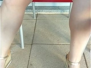 Amateur hot wife teasing in public upskirt
