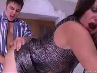 Horny son licks, and abuses his mom in every possible way