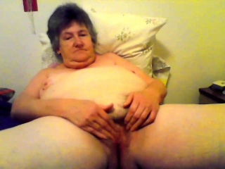 Nasty solo with horny granny toying pussy