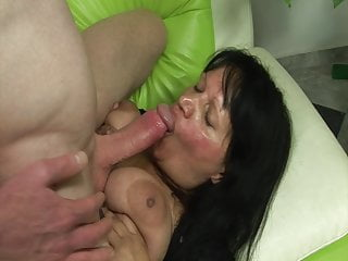 Her old cunt is very wet!