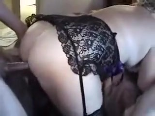 Amazing Amateur movie with Threesome, Stockings scenes