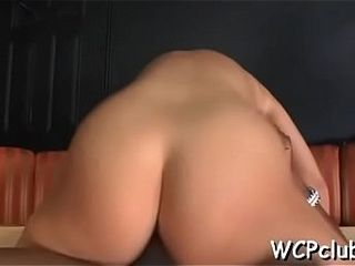 Darksome chick feels enormous big darksome dick in throat and ass