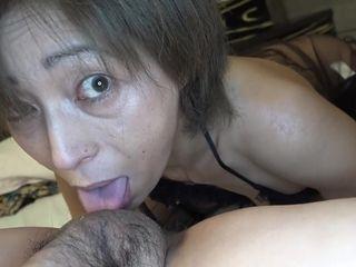 Asian mature in stockings hard fuck
