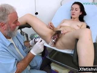 Wife With Hairy Pussy Gyno Exam
