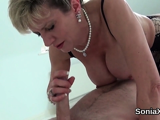Unfaithful english mature gill ellis shows off her big globe
