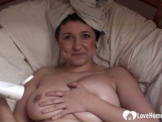Aroused MILF masturbates while being recorded