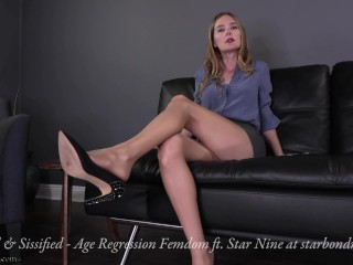 Regressed & Sissified - Age Regression Pantyhose Domination Femdom TRAILER