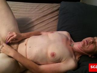 Masturbating with vibrator to orgasm