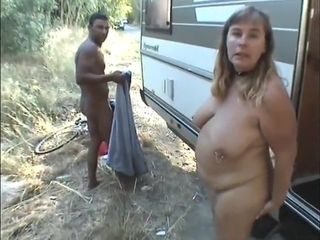 Casual Camper Making Out - plump MILF porn