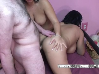 Latina wives Valentina and Angel are swapping some dick