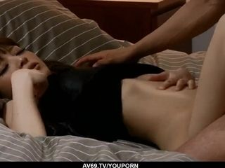 Superb amateur sex scenes in bed with lovely Yuria - More at 69avs.com